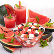 watermelon salad and juice