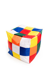 Nice and soft beanbag chair in shape of cube