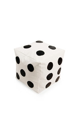 Nice and soft beanbag chair in shape of dice