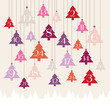Advent Calendar Hanging Trees Forest Pink