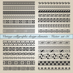 Vintage calligraphic design elements