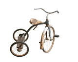 vintage childrens tricycle, isolated