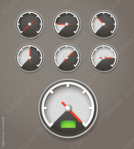 Speed limit web icons collection