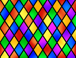 Stained glass pattern, vector illustration