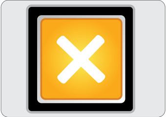 cancel yellow square web icon