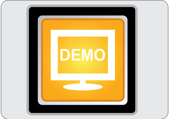 demo yellow square web icon