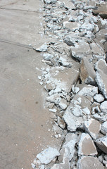 broken concrete floor