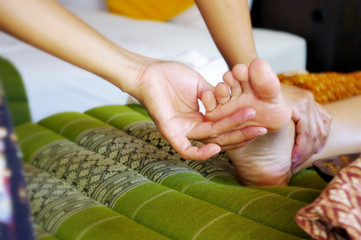 Foot massage, Reflexology concept