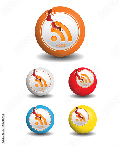 Rss Icons Ball With Crack