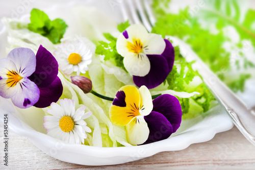 Fotobehang Salade Blüten - Salat