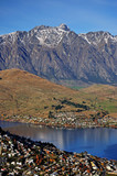 Mountain and Lake scenic View in Queenstown poster