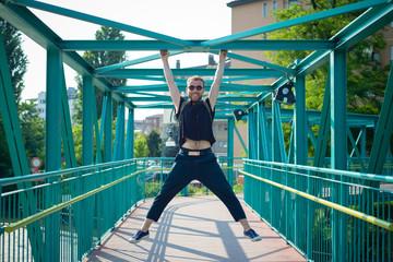 hipster modern stylish blonde man