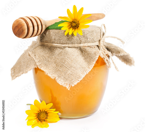 Sweet honey with yellow daisies
