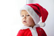 baby santa looking in window