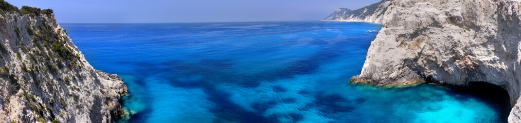 Ionian sea.Big panorama.Lefkas island.Greece.