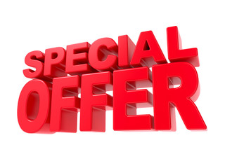 Special Offer - Red 3D Text.