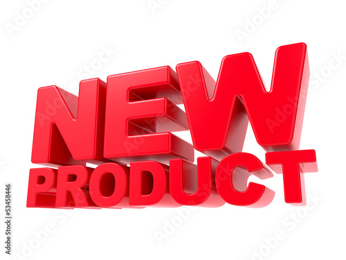 New Product - Red 3D Text.