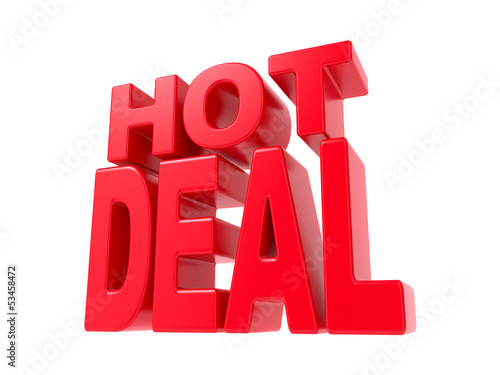 Hot Deal - Red 3D Text.