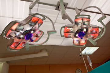 Surgical Lights in an Operation Room