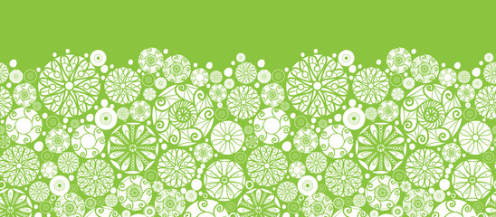Vector abstract green and white circles horizontal seamless