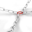 Chain with red joining link