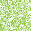 Vector abstract green and white circles seamless pattern