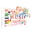 Colorful piano vector background