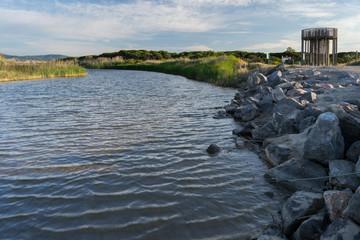 Mirador del Frances en el estanque de Sant Climent. Delta del Ll