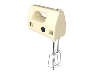 Old  electric mixer. 3D isolated