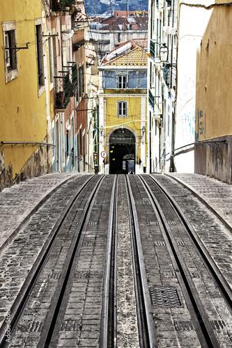 Obraz na płótnie Bica winda tramwaj w Lizbonie, Portugalia