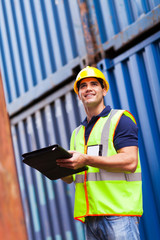 harbor container depot worker