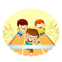 A sports day 1. Education and life illustration series.