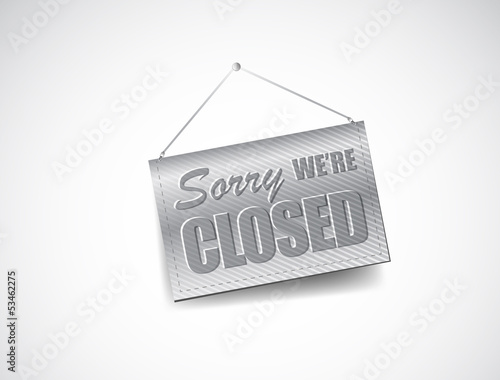 We Are Closed Sign - Closed retail store