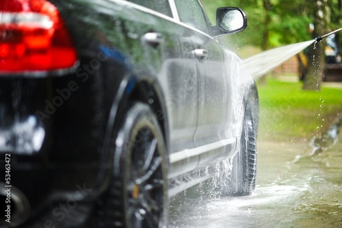canvas print picture Car Washing