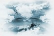 Leinwanddruck Bild - Jets Background