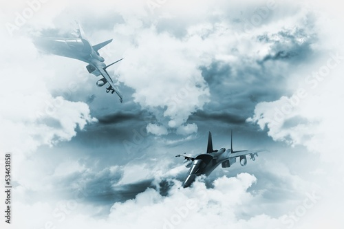 Leinwanddruck Bild Jets Background