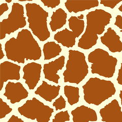 Seamless spotted Giraffe Skin Background. Vector illustration