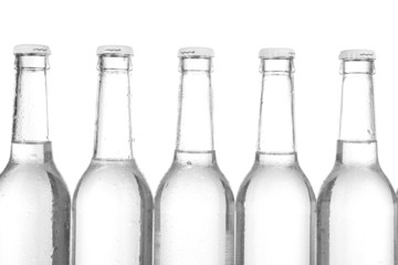 Water bottles isolated on white
