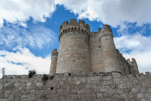 Exterior from Penafiel Castle, Valladolid Spain