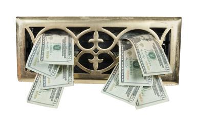 Brass Vent Full of Money