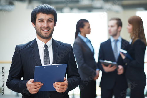 Businessman with document