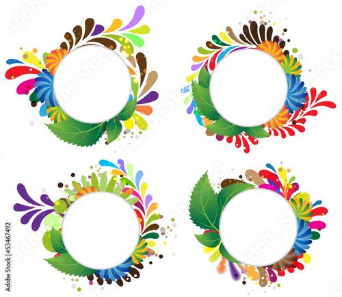 Funny floral frames