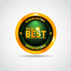 Best label. Best choice. 100% guarantee. Vector illustration