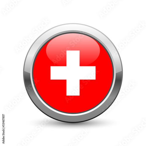 Swiss flag icon web button