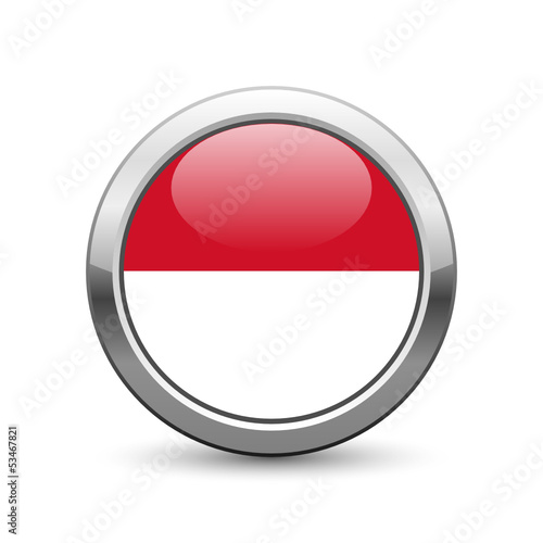 Monegasque flag icon web button