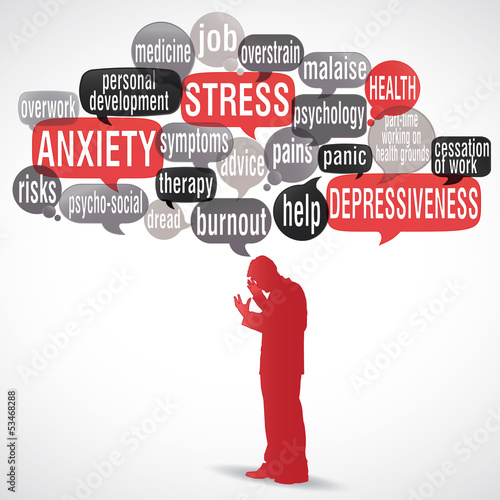 tag cloud : stress, depressiveness