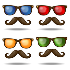 Set of sunglasses. Vector illustration