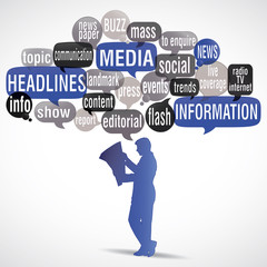 tag cloud : media, headlines