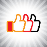 Concept vector graphic- social media like hand icons(Symbol) set