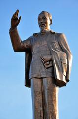 The statue of  Ho Chi Minh communist revolutionary leader